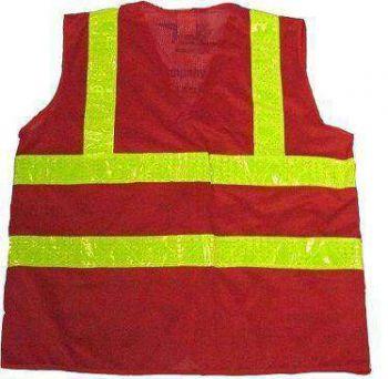 Áo bảo hộ lao động phản quang môi trường 2 sọc trước